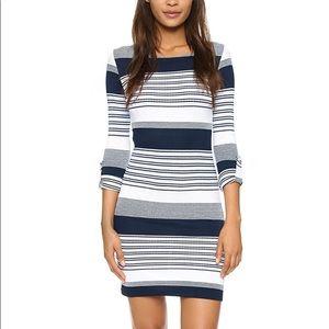 Melissa Odabash Maddie Striped Long Sleeve Dress